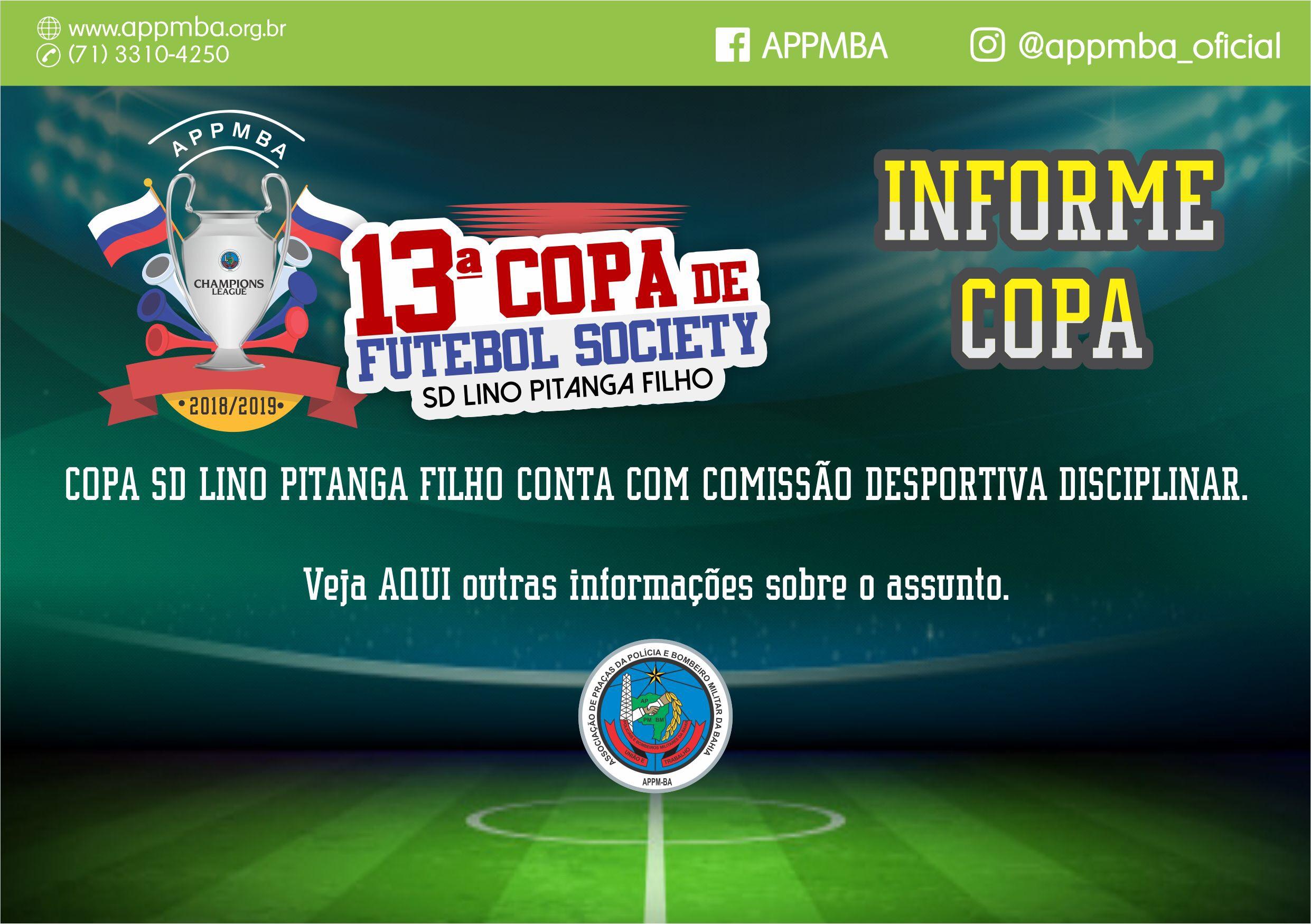 de03398a1ff02 Copa SD Lino Pitanga Filho conta com Comissão Desportiva Disciplinar